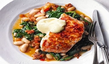 Smoky Hake with Beans