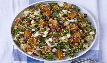 Gorgonzola Pilaf, Squash and Mushroom